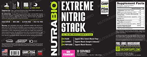 NutraBio Extreme Nitric Stack (Kiwi Strawberry)
