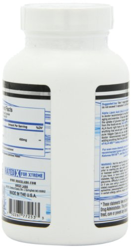 NRG-X Labs ALA 400 Mg Diet Supplement Vegetarian Capsules, 60 Count