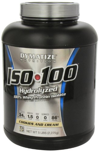 Dymatize Nutrition ISO 100 Whey Protein - Cookies and Cream 5 Pound