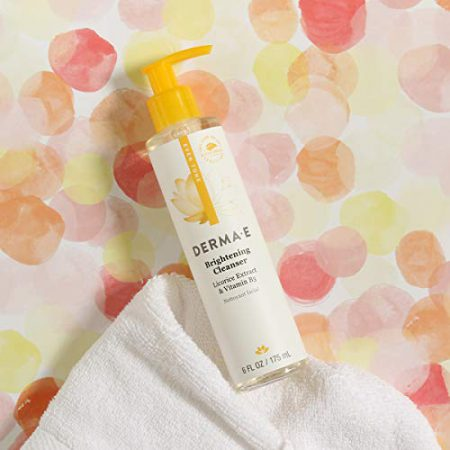 DERMA-E Even Tone Cleanser, Skin Restore Cleanser Promotes Skin Glow, Anti-aging skin Radiance, Lily, 6 Fl Oz