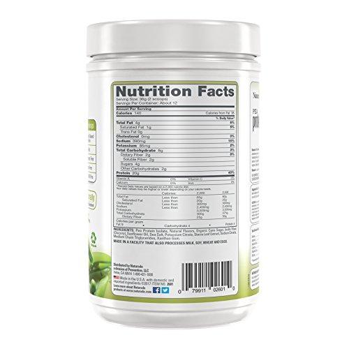 Naturade Plant Based Vegan Pea Protein - Vanilla - 15.66 oz