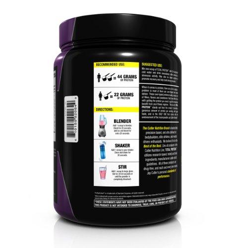 Cutler Nutrition Total Protein Muscle Building Sustain Protein Powder, Creamy Vanilla, 2.3-Pound