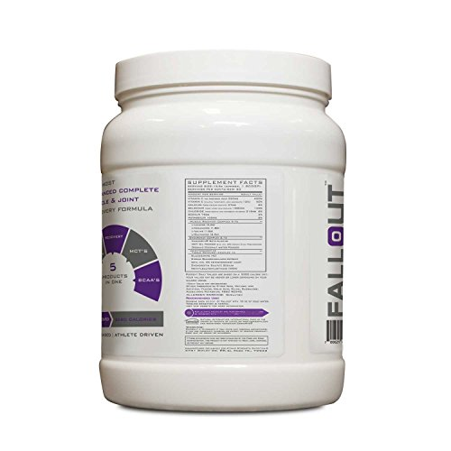 Atomic Strength Nutrition Fallout - Tropical Fruit - Premium Quality Advanced Muscle and Joint Recovery - Sugar Free, Fat Free, Gluten Free, Lactose Free - 1.1lbs.