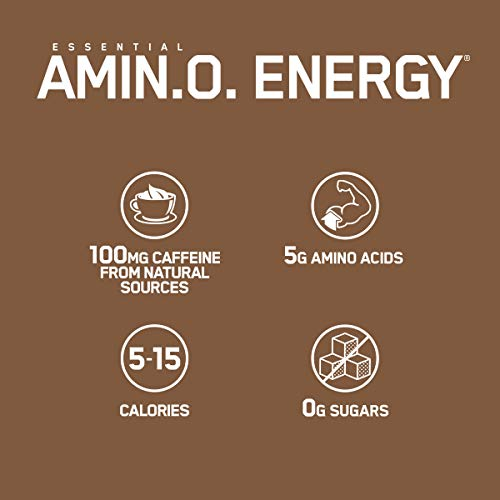 Optimum Nutrition Amino Energy - Pre Workout with Green Tea, BCAA, Amino Acids, Keto Friendly, Green Coffee Extract, Energy Powder - Iced Mocha Cappuccino, 30 Servings