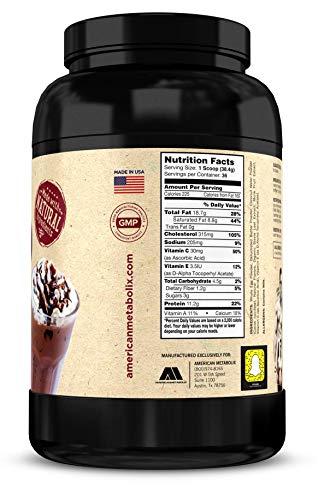American Metabolix Keto Meal Chocolate Malt, 48 Ounce