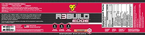 BSN R3Build Edge Post Workout Recovery Powder With Creatine, Glutamine and BCAAs, Island Cooler, 25 Servings