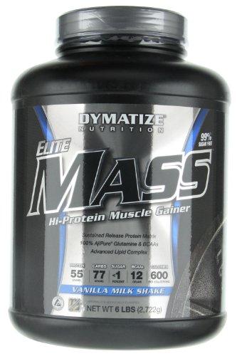 Dymatize Nutrition Elite Mass Gainer, Vanilla, 6-Pound