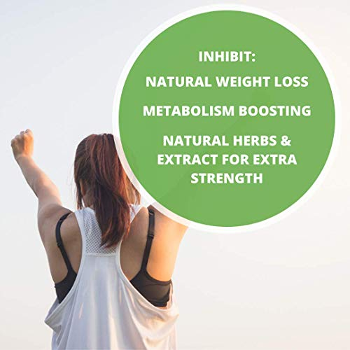 INHIBIT - Non Stimulant Fat Burner Weight Loss Supplement, Appetite Suppressant, Metabolism Booster, Stimulant Free, CLA, L-Carnitine, Dandelion Root, Green Tea, ALA, 120ct