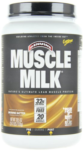 CytoSport Muscle Milk, Brownie Batter, 2.47 Pounds