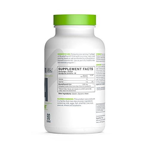 Muscle Pharm Essentials CLA Softfgels, 1000mg CLA Blend, 90 Servings (PH20)