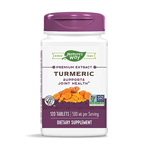 Nature's Way Premium Extract Turmeric Standardized to 95% Curcuminoids, 500 mg per serving, 120 Tablets (Packaging May Vary)