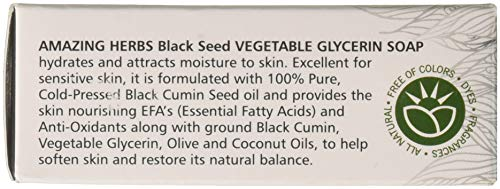 Black Seed Amazing Herbs Vegetable Glycerin Soap, 4.25 Ounce