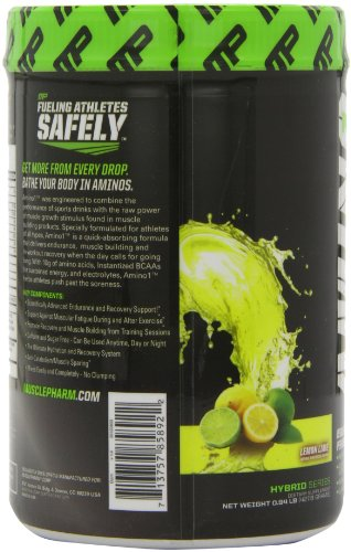 MusclePharm Amino 1 Hydration & Recovery Supplement, Lemon Lime, 30 Servings