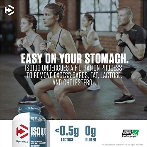 Dymatize ISO 100 Whey Protein Powder with 25g of Hydrolyzed, Chocolate, 1.6 Pound (Pack of 1), 25.6 Ounce