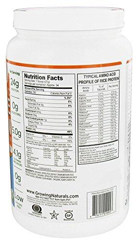 Growing Naturals Organic Rice Protein Powder, Original 2.02 Pound 32.4 Ounce