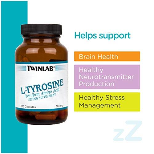 Twinlab L-Tyrosine 500mg, 100 Capsules (Pack of 2)