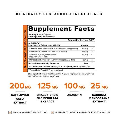 Alphadex Estrogen Blocker for Men | Innovative Aromatase Inhibitor, Anti Estrogen Fat Loss Hardening Agent and Testosterone Booster | Muscle Builder To Boost Performance, Energy, Stamina, 56 Servings.
