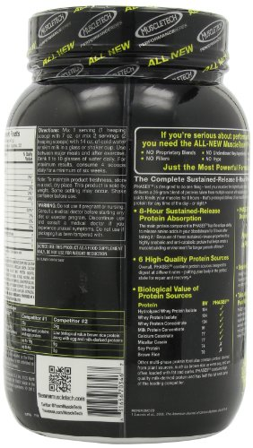 MuscleTech Phase8 Protein Powder, Sustained Release 8-Hour Protein Shake, Milk Chocolate, 2 Pound