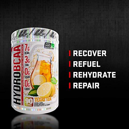 ProSupps® HydroBCAA® BCAA/EAA Full Spectrum Matrix, 7g BCAAs, 3g EAAS, 0g Sugar, 0g Carbs, (90 Servings, Passionfruit)