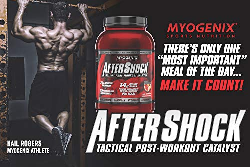 Myogenix Aftershock Post Workout, Unlimited Muscle Growth | Anabolic Whey Protein | Mass Building Carbohydrates | Amino Stack Creatine and Glutamine Plus BCAAs | Fruit Punch 2.64 LBS