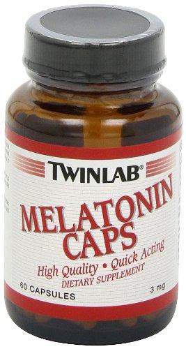 Twin Lab Melatonin (3 Mg) Capsules, 60-Count