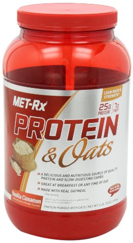 MET-Rx Protein and Oats Nutrition Shakes, Vanilla Cinnamon, 2 Pound