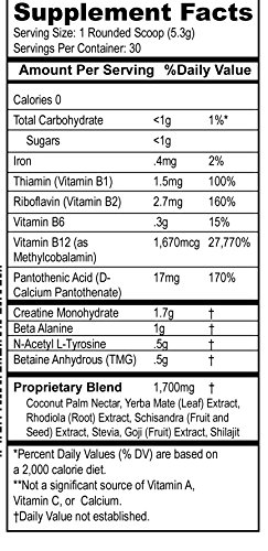 Paleo Pump, All Natural Pre-Workout Energy Blend, 30 Servings Per Container, No Additives, All Natural Flavoring, Safest Pre-Workout Product, 5.7oz Jar, Paleo Diet Friendly