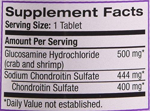 Natrol Glucosamine 1500mg/Chondroitin 1200mg Tablets, 60 Count
