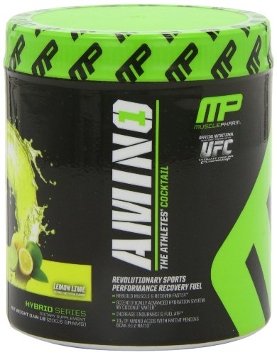 Muscle Pharm Amino 1 Hydration & Recovery Supplement, Lemon Lime, 0.44 Pound