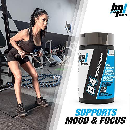 BPI Sports B4 - Extra-Strength Fat Burner - Keto-Friendly - Appetite Suppressant - Caffeine, Niacin, Quercetin, Yohimbine - 30 Servings - 710mg