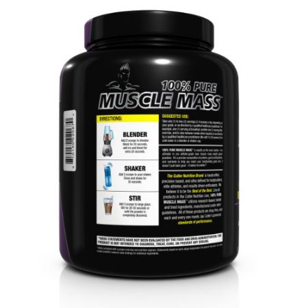 Cutler Nutrition 100% Pure Muscle Mass Professional Athlete Weight Gainer Powder, Chocolate Chip, 5.8-Pound