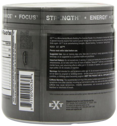 EXT Sports 140g Go Pre Workout Fruit Punch