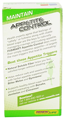 Renew Life Fit Smart Weight Loss Capsules, Appetite Control, 60 Count