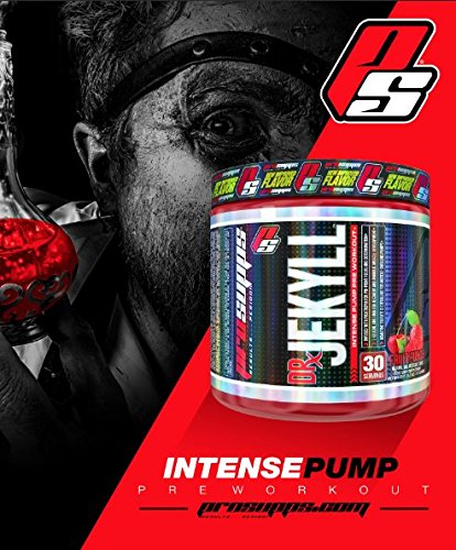 Pro Supps Dr. Jekyll Intense Pump Pre-Workout Powder (Berry Blast Flavor), 30 True Servings, Ridiculous Focus, Energy and Insane Muscle Pumps
