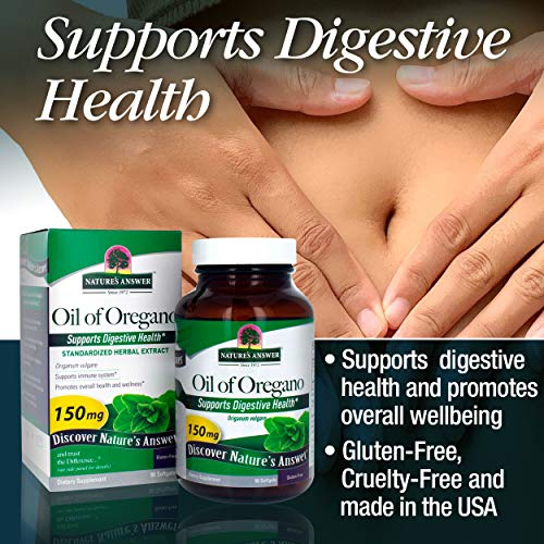 Nature's Answer Oil of Oregano Capsule Softgels, 90-Count   Natural Immune Booster   Promotes Healthy Digestion & Gut Flora