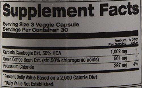 Top Secret Nutrition Garcinia Cambogia Plus Green Coffee Extract, 90 Count