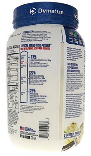 Dymatize Elite Whey Protein Isolate Gourmet Vanilla - 2.03 lbs
