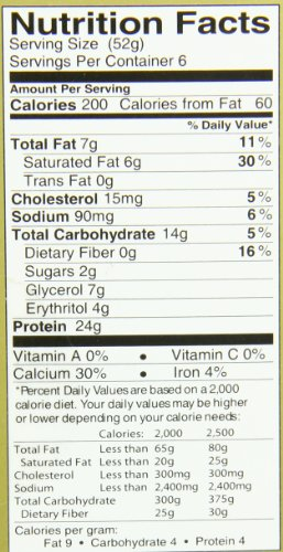 Ratio Protein Bars, Cake Batter, 1.83 Ounce (Pack of 6)