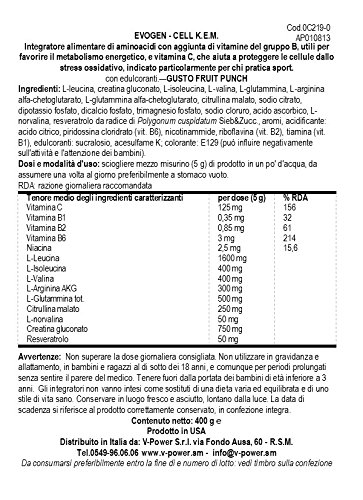 Evogen Cell KEM 40 Servings Protein Powders, Fruit Punch, 0.97 Pound