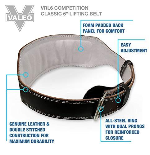 """Valeo 6"""" Padded Leather size Large"""