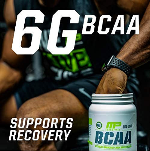 MusclePharm Essentials BCAA Capsules, Optimized Branched-Chain Amino Acids, 30 Servings