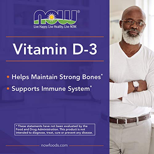 NOW Supplements, Vitamin D-3 5,000 IU, High Potency, Structural Support*, 120 Softgels