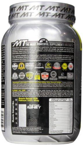 MuscleTech Platinum 100% Whey Protein Powder, Vanilla Cake, 2.0 lbs (907g)