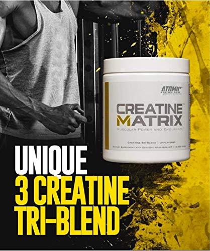 Atomic Strength Nutrition Creatine Matrix, Muscular Power & Endurance Supplement, 60 Servings