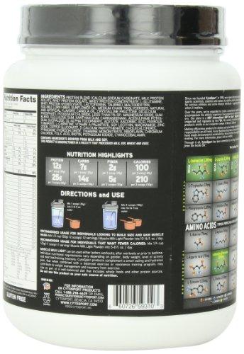 Muscle Milk Light Protein Powder, Vanilla Crème, 25g Protein, 1.65 Pound