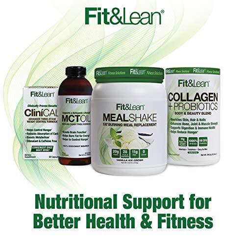 Fit & Lean Collagen + Probiotics- Grass-fed Collagen Peptide Powder, Unflavored, 12.64oz