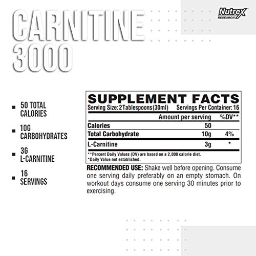 Nutrex Research Liquid Carnitine 3000 | Premium Liquid Carnitine, Stimulant Free, Fat Loss Support | Berry Blast, 16 Fl Oz (Pack of 1)