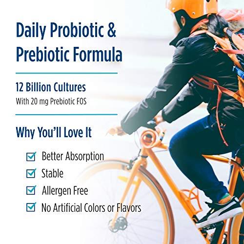 Nordic Naturals Nordic Flora Probiotic Daily - 60 Capsules - 4 Probiotic Strains with 12 Billion Cultures - Optimal Wellness, Immune Support, Digestive Health - Non-GMO, Vegan - 30 Servings