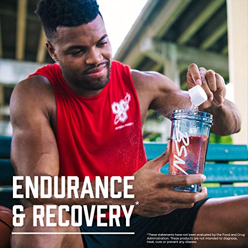 BSN Amino X Muscle Recovery & Endurance Powder with BCAAs, 10 Grams of Amino Acids, Keto Friendly, Caffeine Free, Flavor: Strawberry Orange, 30 Servings (Packaging May Vary)