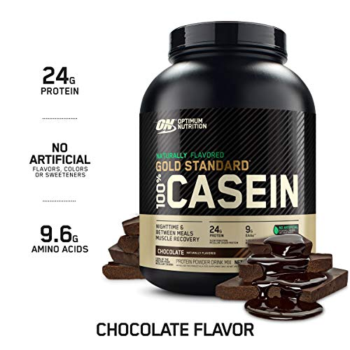 Optimum Nutrition Gold Standard 100% Micellar Casein Protein Powder, Naturally Flavored Chocolate Creme, 4 Pound (Packaging May Vary)